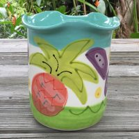 Susan Painter Pottery Large Tropical Utensil Holder