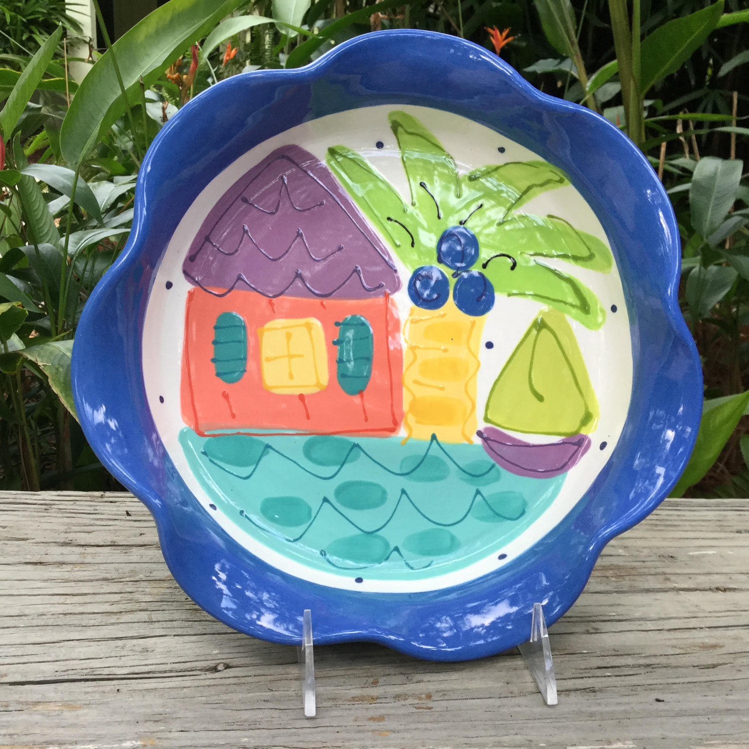 Pie Plate/Baking Dish | Susan Painter Pottery Tropical Florida Ceramic Tableware Gifts & Pie Plate/Baking Dish | Susan Painter Pottery Tropical Florida ...