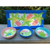 Blue Tray by Susan Painter Tropical Pottery