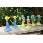 Susan Painter Pottery Tropical Candlesticks