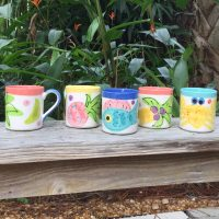 Susan Painter Tropical Pottery Coffee Mugs